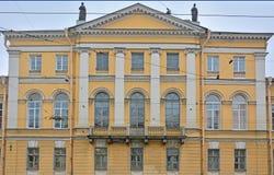 Roman Catholic Spiritual akademi på Vasilyevsky Island i St Petersburg, Ryssland Royaltyfri Bild