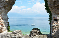 Roman Catullus archaeological excavations in Sirmione, Gar Stock Photography