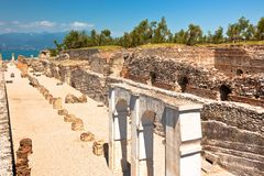 Roman Catullus villa in Sirmione, Italy Royalty Free Stock Photography