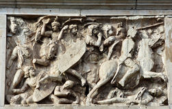 Roman cavalry tramples dacian barbarians Royalty Free Stock Photos