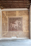 Roman Centaur Mosaic Rhodes Greece stockfotos
