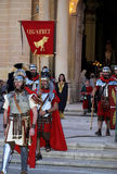 Roman Centurion. Man dressed up as a Roman Centurion during reenactment of Biblical times.  Good Friday procession in town of Luqa in Malta Europe Stock Photography