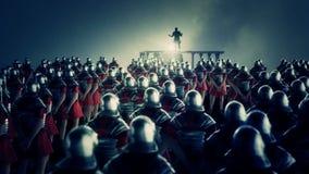 Roman Centurion Gives eine Rede vor einer Legion vektor abbildung