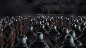 Roman Centurion Gives eine Rede vor einer Legion vor einem Kampf vektor abbildung
