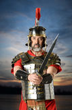 Roman Centurion Holding Sword Photo libre de droits