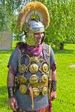 Roman centurion. JUNE 6, 2015,  MOSCOW, RUSSIA - Festival of the historic reconstruction Times and Ages in the park Kolomenskoye. Roman centurion Stock Image