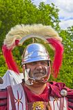 Roman centurion. JUNE 6, 2015,  MOSCOW, RUSSIA -  Festival of the historic reconstruction Times and Ages in the park Kolomenskoye. Roman centurion Stock Photography