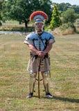 Roman Centurion, mostra viva da história M5, Worcestershire, Inglaterra imagem de stock