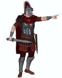 Roman Centurion Ordering en attack Arkivfoto