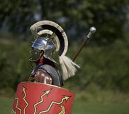 Roman centurion with shield Royalty Free Stock Photos