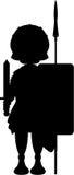 Roman Centurion Soldier. Cartoon vector illustration of Roman centurion in silhouette Royalty Free Stock Photos