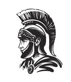 Roman centurion soldier. Sketch vector illustration. On white background Royalty Free Stock Image