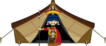 Roman Centurion Soldier and Tent Royalty Free Stock Images
