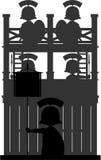 Roman Centurion Soldiers bij Watchtower Stock Afbeelding