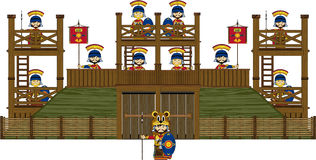 Roman Centurion Soldiers at Fort stock illustration