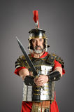 Roman Centurion With Sword Arkivfoto