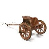 Roman Chariot Racing on White 3D Illustration Stock Image