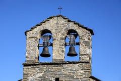 Roman Church av eremitboningen av San Quirce de Durro Catalonia - Spanien royaltyfria foton