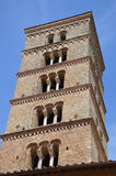 Roman Church Bell Tower. This bell tower sits above a convent in Subiaco, Italy. Photo taken April 2015 Stock Photography