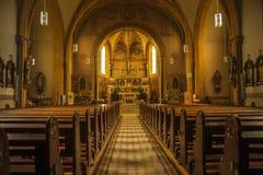 Roman Church - binnen Royalty-vrije Stock Afbeeldingen