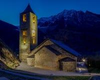 Roman Church de Sant Joan de Boi, Catalonia - Espanha foto de stock royalty free