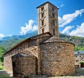 Roman Church de Santa Eulalia en Erill-La-Vall en Catalogne, Espagne images libres de droits
