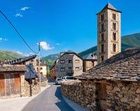 Roman Church de Santa Eulalia en Erill-La-Vall en Catalogne, Espagne images stock