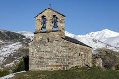 Roman Church of Hermitage of San Quirce de Durro Catalonia - Spain Stock Photo
