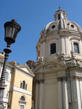 Roman church and lantern Royalty Free Stock Image