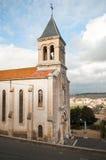 Roman church. In Montady - France stock photos