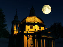 Roman Church at Night Stock Photos