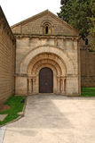 Roman church in Poble Espanyol, Barcelona Royalty Free Stock Photo