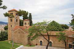 Roman church in Poble Espanyol, Barcelona Royalty Free Stock Photography