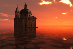 Roman Church Sunset Stock Photography