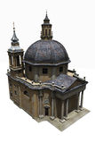 Roman Church on white Royalty Free Stock Image