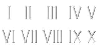 Roman cijfers stock illustratie