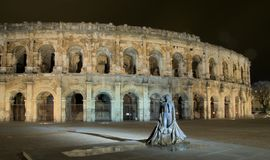Roman circus and bullfighter Stock Image