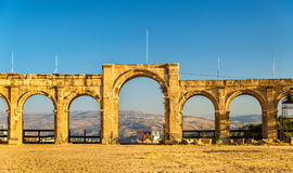 The Roman Circus or Hippodrome in Jerash Stock Photography