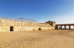 The Roman Circus or Hippodrome in Jerash Stock Image