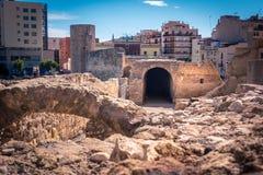 Roman Circus i Tarragona, Costa Dorada, Catalonia, Spanien Royaltyfri Fotografi