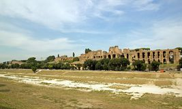Roman Circus and Palatine Hill Royalty Free Stock Photo