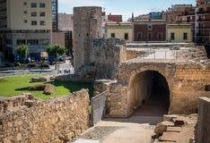Roman Circus a Tarragona, Costa Dorada, Catalogna, Spagna fotografia stock