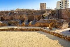 Roman Circus a Tarragona della Catalogna immagini stock libere da diritti