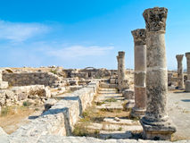 Roman citadel in Amman, Jordan Stock Photos