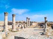 Roman citadel in Amman, Jordanië Royalty-vrije Stock Foto's