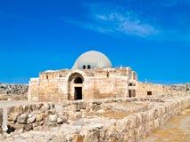 Roman citadel in Amman, Jordanië Stock Afbeeldingen
