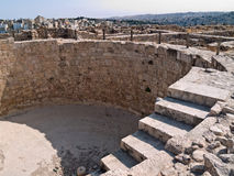 Roman citadel in Amman, Jordanië Royalty-vrije Stock Fotografie