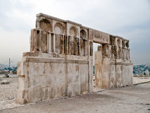 Roman citadel in Amman, Jordanië Stock Foto's