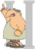 Roman Citizen Between Columns Stock Image