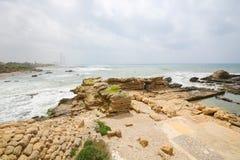 Roman City antiguo de Caesarea en Israel imágenes de archivo libres de regalías